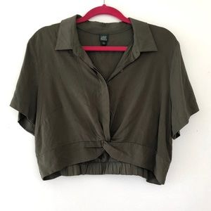 Wild Fable Olive Green Crop Top